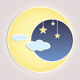 Celestial Moon Vector Illustration Royalty Free Stock Images