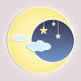 Celestial Moon Vector Illustration Immagini Stock Libere da Diritti
