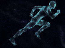 Celestial Sprinter. Running in the sky royalty free stock photography