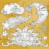 Celestial symbols 1 vector illustration