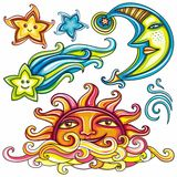 Celestial symbols 3 royalty free illustration