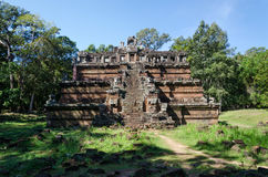 The celestial temple Phimeanakas is part of the royal palace Angkor Thom Stock Image