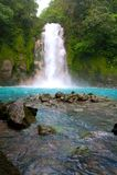 Celestial water fall. Rio Celeste in Arenal, Costa Rica Royalty Free Stock Photos