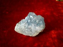 celestine矿物锶硫酸盐 免版税库存照片