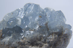 Celestine crystals gem Royalty Free Stock Photos