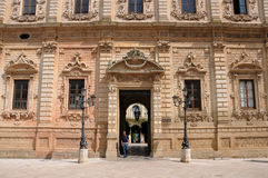 Celestines  Palace in Lecce Royalty Free Stock Image