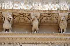 Celestines  Palace in Lecce, detail Stock Images