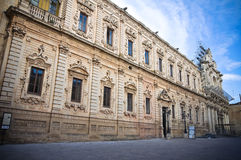 Celestines' palace. Lecce. Puglia. Italy. Stock Images
