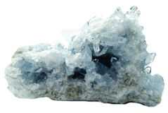 Celestite geode geological crystals Stock Photos