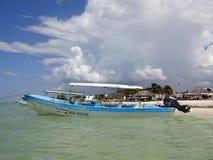 Celestun海滩墨西哥 免版税库存图片