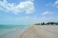 Celestun海滩,尤加坦,墨西哥 图库摄影