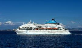Celestyal Cruises ship in the Aegean sea Royalty Free Stock Photo