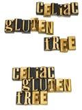 Celiac glutenu sprue bezpłatna wiadomość obraz stock