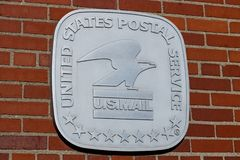 USPS Post Office Location. The USPS is Responsible for Providing Mail Delivery II stock photos