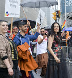 Celina Jaitly in Toronto's 35th annual Pride parade Royalty Free Stock Images