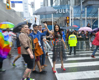 Celina Jaitly in Toronto's 35th annual Pride parade Stock Image