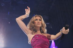 Celine Dion. On the recent 2008 tour Stock Images