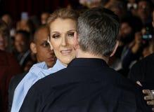 Celine Dion et Matt Damon Image libre de droits