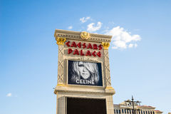 Celine Dion, gekennzeichnet am Caesars Palace Las Vegas Stockfotos
