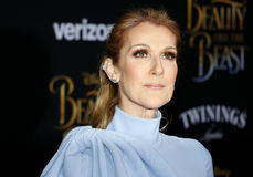 Celine Dion. At the Los Angeles premiere of `Beauty And The Beast` held at the El Capitan Theatre in Hollywood, USA on March 2, 2017 stock photos