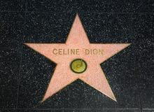 Celine Dion Star sur la promenade de Hollywood de la renommée photographie stock libre de droits