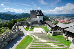 Celje castle, Slovenia. Celje castle with the city in background, Slovenia Royalty Free Stock Images