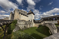 Celje castle, Slovenia. Interior of the medieval castle Celje with inner court and palace, Slovenia Royalty Free Stock Images