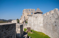 Celje castle, Slovenia. Celje castle is one of the tourist attraction in the town, Slovenia Stock Images