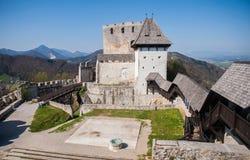 Celje castle, Slovenia. Celje castle is one of the tourist attraction in the town, Slovenia Stock Photo