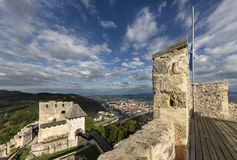 Celje castle, Slovenia. View from count Frederic`s tower on castle and town Celje, Slovenia Stock Photos
