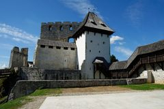 Celje medieval castle in Slovenia. Courtyard of Celje medieval castle in Slovenia Royalty Free Stock Photos