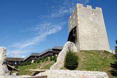 Celje medieval castle in Slovenia. Keep tower of Celje medieval castle in Slovenia Stock Photography