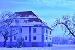 Celje Slovenien renoverad gammal byggnad Fotografering för Bildbyråer