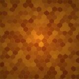 Brun cell- bakgrund Royaltyfri Fotografi