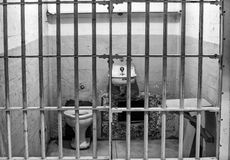 Cell Block A at Alcatraz Island Prison Stock Images