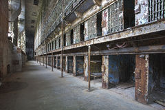 Cell block of the inside of an old prison Royalty Free Stock Photo