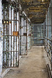 Cell block of the inside of an old prison Royalty Free Stock Image