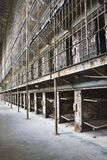 Cell block of the inside of an old prison Royalty Free Stock Photos