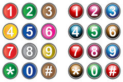 Cell buttons. Illustration of cell buttons on white background Stock Photography