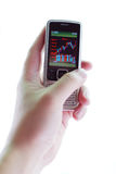 cell chart phone screen stock Στοκ Εικόνα
