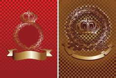 Cell And Crown Background. Royalty Free Stock Image