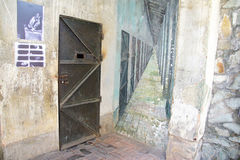 Cell door in Vietnamese prison Royalty Free Stock Photos