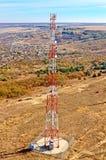 Cell- grundstation för antenn Arkivfoto