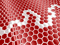 Cell hexagon background Stock Image