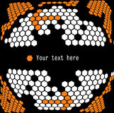 Cell, hexagon mesh background Stock Photography