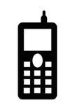 cell illustrerad telefon Royaltyfri Fotografi