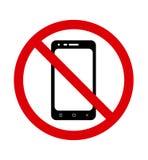 cell inget telefontecken Förbjudet att använda telefonen vektor royaltyfri illustrationer