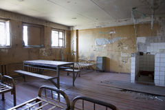 Cell interior at abandoned prison jail Royalty Free Stock Photography