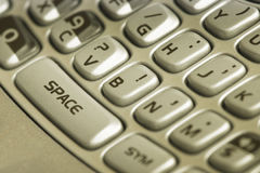 Cell keyboard. Detail of cell keyboard with big button Royalty Free Stock Photography