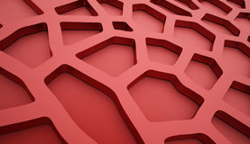 Cell mesh background red Stock Image